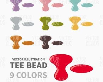 Preciosa Tee Pressed Beads Vector Illustration - ai, eps, pdf, png