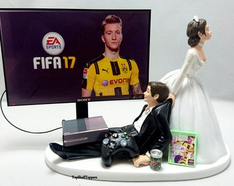 Wedding Cake Topper Fifa17 Gamer Xbox One/PS4/PC
