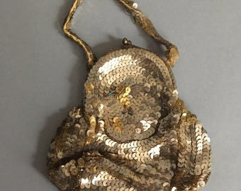 1930s sequin purse; as is