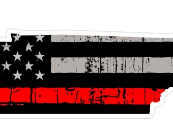 Tennessee State (C43) Thin Red Line Vinyl Decal Sticker Car/Truck Laptop/Netbook Window