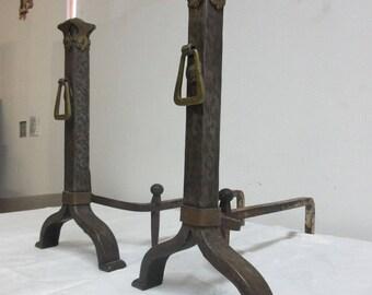 Cast iron andirons