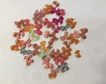 45 colored resin ribbons for scrapbooking