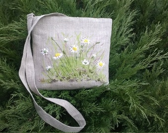 100% Linen 'Daisy' Cross Body Bag