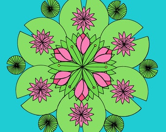 Lotus Pond Mandala (download)