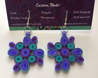 Custom Handmade Quilled Earring Design