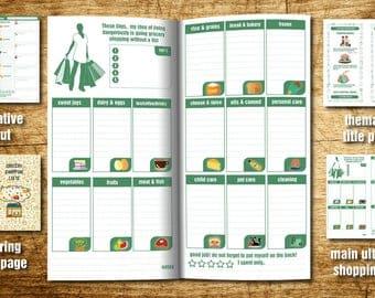 Shopping List - Grocery List - Digital Download - Grocery List PDF - Meal Planner - Shopping Planner - Instant Printable - Shopping List PDF