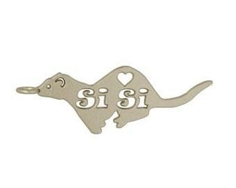Ferret keychain, custom keychain, custom ferret gift, rainbow bridge, 3d printed, pet memorial, ferret gift