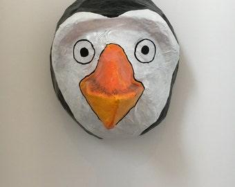 Paper mache animal head / Penguin head