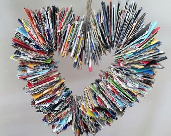 Large Upcycled Cardboard Heart