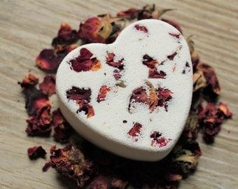 Rose and Ylang Ylang, Natural Bath Bomb, Bath Fizz, Bath Fizzie, Bath Fizzies, Bath Soak, New Mom Gift, Romantic Wedding Gift
