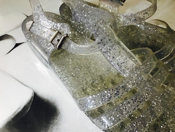 80s Sparkly Gel Shoes