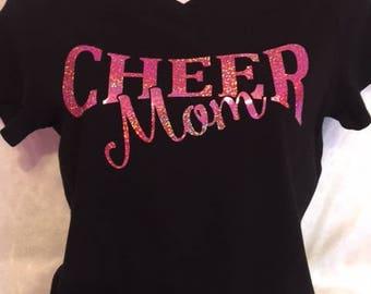 Cheer mom custom vinyl t-shirt