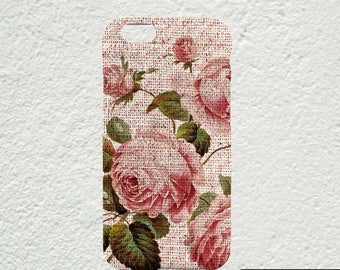 floral iPhone 7 case, pink roses iPhone 5 case, shabby chic iphone 6s case, girly iphone 6 cover, cute iphone 7 cover iphone 7 floral case