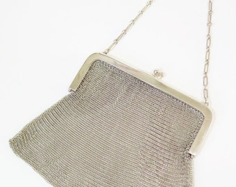 Art D'Eco Silver Evening Bag