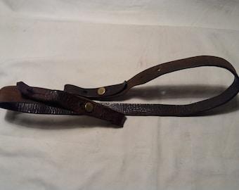Vintage Leather Belt for Hunting Rifle