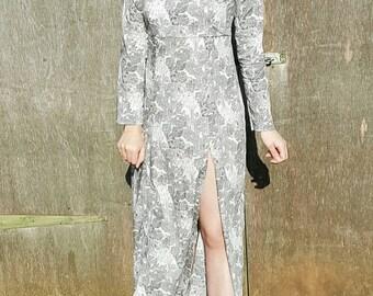 Grey Maxi Dress - Long Grey Dress - Grey Long Dress - Floor Length Dress - Maxi Grey Dress - Boat Neck Dress - Casual Long Dress - Grey Gown