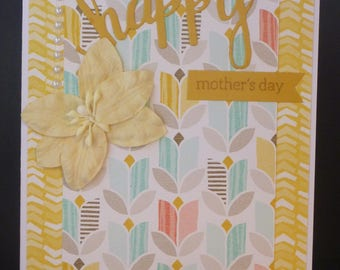 Yellow Floral Mother's Day Card 2457