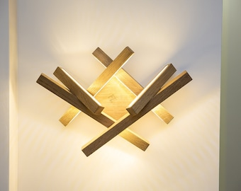 LED wall light -chandelier-wood lamp - modern home deco - unique design - lighting - modern wood lamp