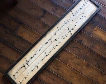 Giant Framed Wooden Love (quote) Letter
