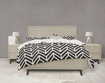 Chevron pattern duvet cover