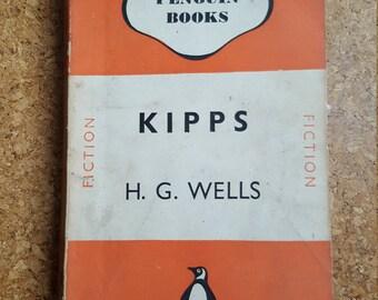KIPPS / H G Wells / Penguin Paperback Book 1946 / Classic Vintage Books
