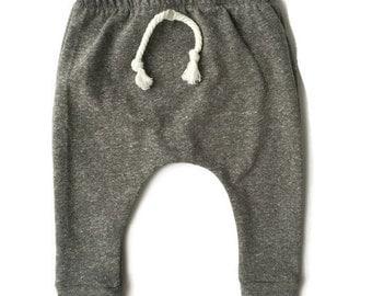Baby Toddler Harem Sweats ~ Heather Gray ~ Baby Boy