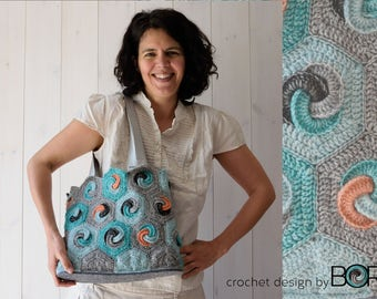 hexa bag - handmade crochet bag pattern