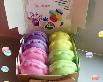 Macaron Soap Gift Set, 8/ Handmade Soap/ Macarons/ Party Favors/