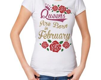 Glitter, Queens Birthday Month T-Shirt, White T Shirt. Super Sparkly