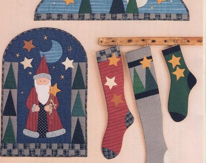 Wild Goose Chase Santa Claus Wall Quilt Hanging Stockings 203 Craft Sewing Pattern Free Us Ship