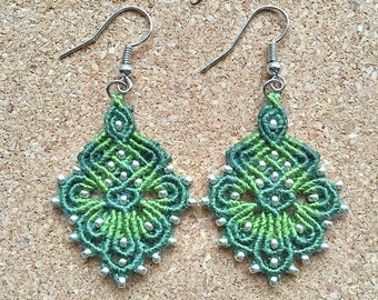 Micro macrame earrings