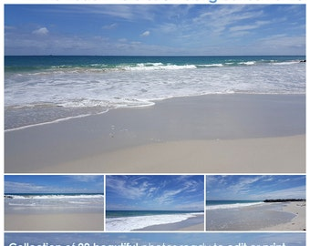 Beach Photos Vol 6, digital beach landscape photographs, beach scenery, digital background, printable photography backdrop, instant download