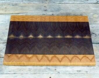 Walnut and cherry end grain cutting board | butcher block cutting board | chopping block