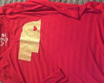 Gold my heart is in Nebraska shirt