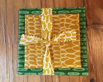 Beeswax Fresh Wraps - Lunch DUO *ORGANIC COTTON*