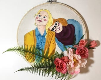 Flower Wreath Custom Portrait