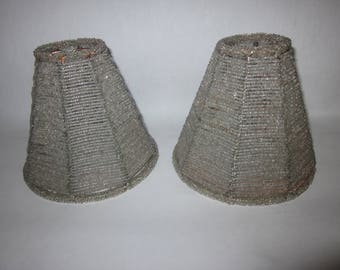 Beaded Lampshades for Sconce or Small Lamp