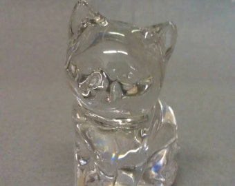 Princess House Cat Exclusive Lead Crystal Glass Cat