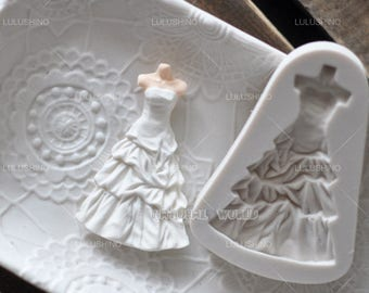 wedding dresses silicone Mold Fondant Gum Paste Chocolate Craft Mold For Resin Polymer Clay Metal Clay,porcelain mold,jewelry mold,cake mold