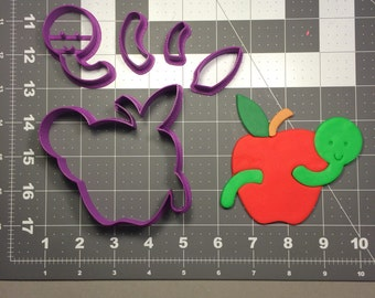 Apple with Worm 100 Cookie Cutter Set