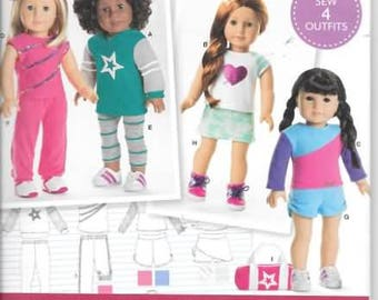 18 Inch American Doll Clothes Patterns, New Simplicity Pattern 8042