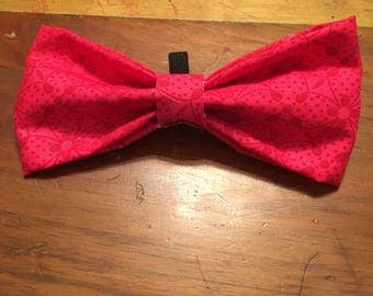 pink and red bow tie