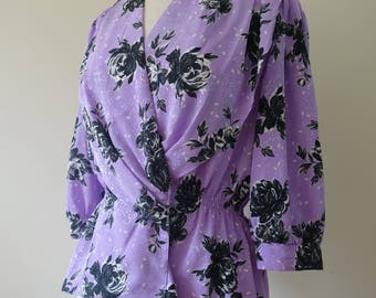 Lilac & Black - women's blouse