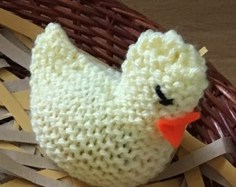 Creme egg covers, Easter chick egg holders, easter egg hunt, cover for chocolate cream egg, childrens Easter gift, knitted chicks