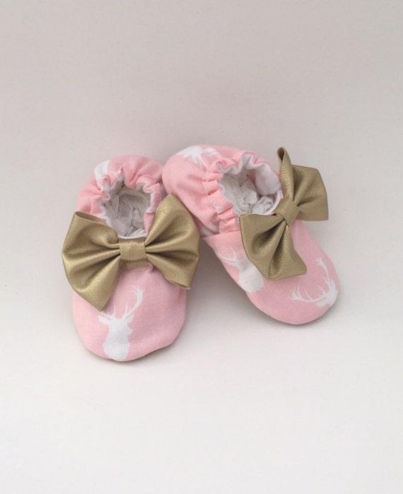pink baby shoes newborn shoes pink and gold baby shoes