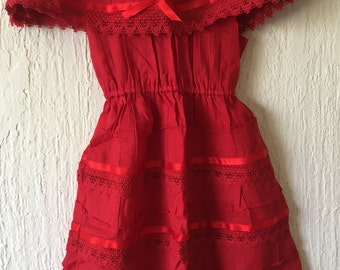 Campesino mexican red dress