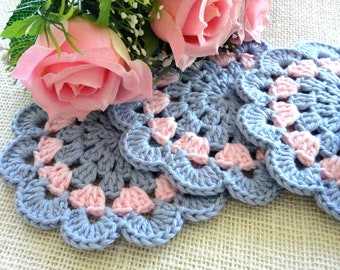 Coaster Crochet Coasters Placemat Table linens Kitchen Decor Gift Crochet Doilies Tablecloth Crochet Doily Round Cotton Table Home Decor