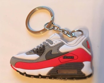 Nike Air Max Keychain of sneaker Keychain white red