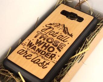 Natural Cherry Wood Case Samsung Galaxy J3/J5/J7 (2017 / 2016) case Motivation | Galaxy J5/J7 wood case | Galaxy J5/J7 wood cover | J5 wood