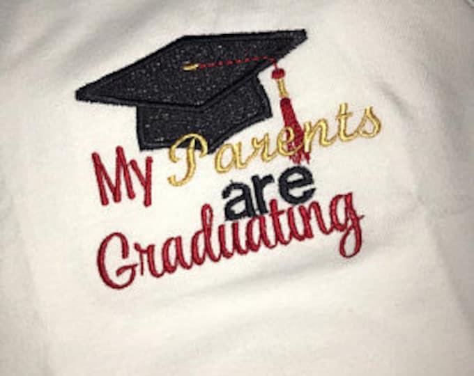 Graduation shirt for baby, Graduation bodysuit,Baby girl graduation shirt,Baby boy graduation shirt, Graduation cap,Parents are graduating